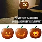 Aemiy Halloween Flash Talking Animated LED Pumpkin Projection Lamp Jack-O-Lantern Pumpkin...