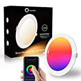 Lumary Foco Empotrable LED 12W 960LM, Downlight LED WiFi Inteligente RGBW Regulable...
