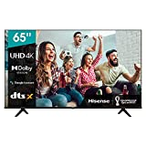 Hisense 65A66G 2021 Series - Smart TV 65' 4K UHD con Dolby Vision HDR, DTS Virtual X, Freeview...